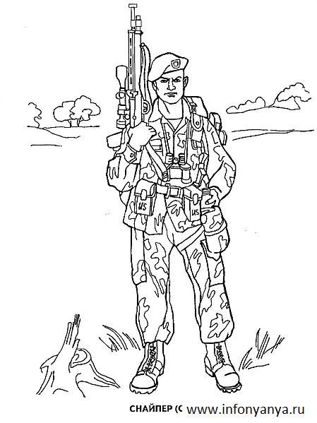 Раскраски для мальчиков военная солдаты