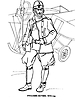 Раскраски на тему Воины, рыцари, солдаты. Раскраска__111
