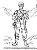 Раскраски на тему Воины, рыцари, солдаты. Раскраска__115