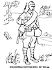Раскраски на тему Воины, рыцари, солдаты. Раскраска__117