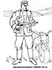 Раскраски на тему Воины, рыцари, солдаты. Раскраска__119