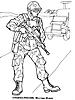 Раскраски на тему Воины, рыцари, солдаты. Раскраска__122