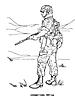 Раскраски на тему Воины, рыцари, солдаты. Раскраска__125