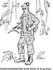 Раскраски на тему Воины, рыцари, солдаты. Раскраска__126