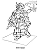 Раскраски на тему Воины, рыцари, солдаты. Раскраска__127